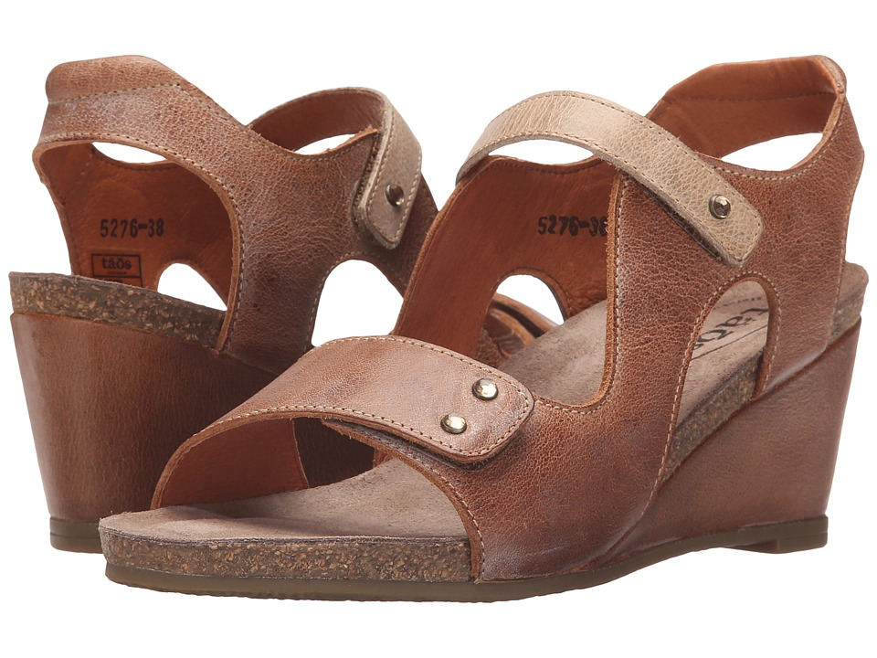 taos Footwear Chrissy Camel/Stone Womens Shoes