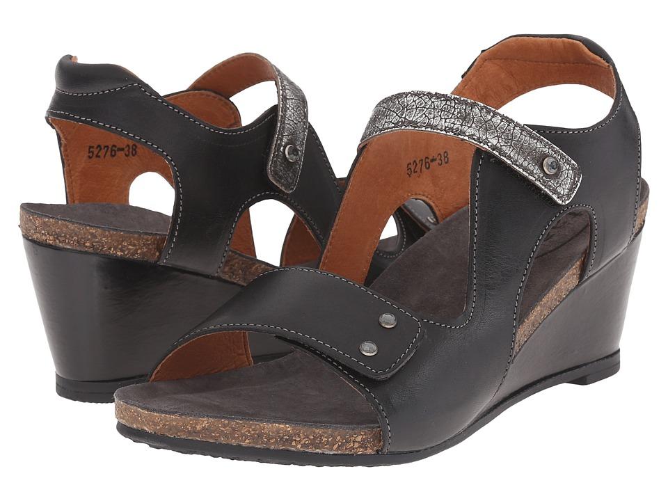 taos Footwear Chrissy Black/Pewter Womens Shoes
