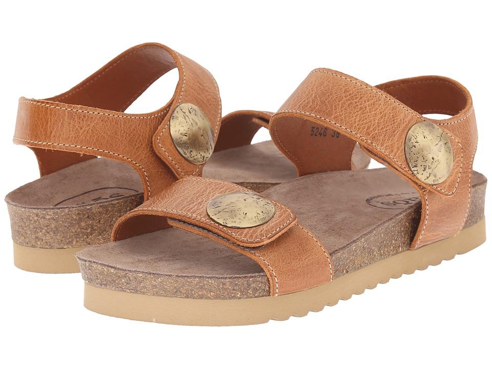 taos Footwear Luckie Burnt Orange Waxed Leather Womens Shoes