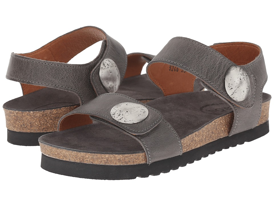 taos Footwear Luckie Graphite Waxed Leather Womens Shoes