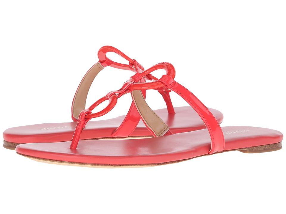 MICHAEL Michael Kors Claudia Flat Sandal Coral Reef Patent Womens Sandals