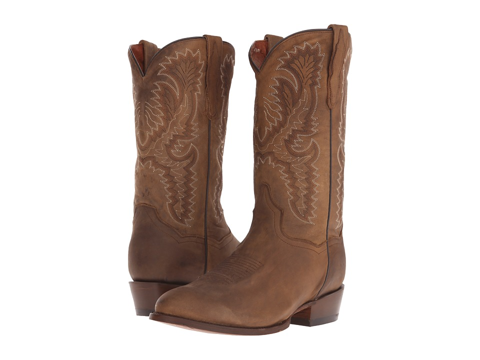 Dan Post High Plains (Tan Smooth Leather) Cowboy Boots