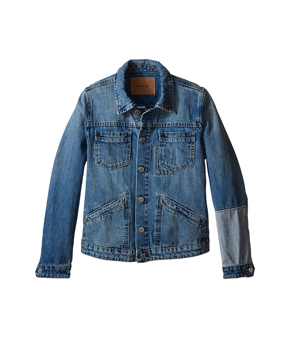 Blank NYC Kids Denim Jacket with Patchwork Detail Big Kids One and Only Girls Coat