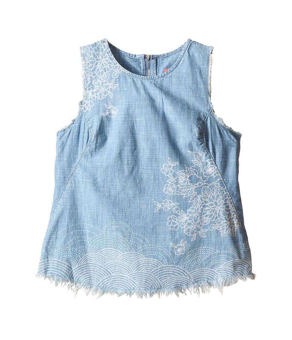 Blank NYC Kids Denim Sleeveless Designed Shirt Big Kids The Great Wave Girls Sleeveless