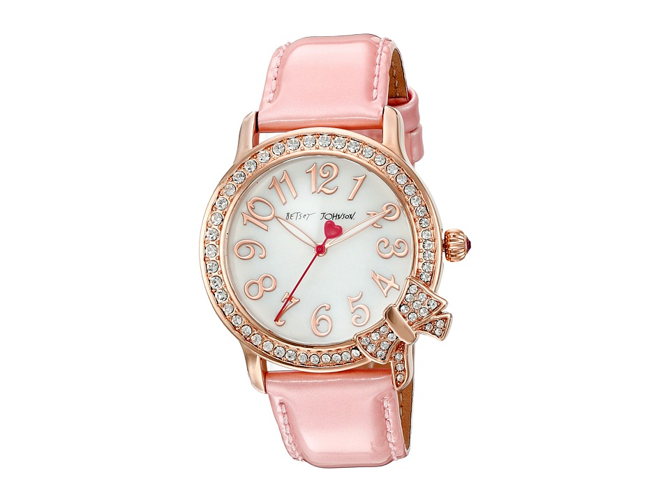 Betsey Johnson - BJ00562-03 - Rose Gold Bow (Pink/Rose Gold) Watches