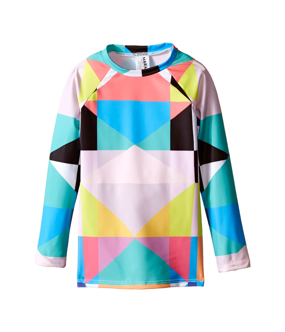 Mara Hoffman Kids Diamond Printed Long Sleeve Rashguard Toddler/Little Kids/Big Kids Aqua Kids Swimwear