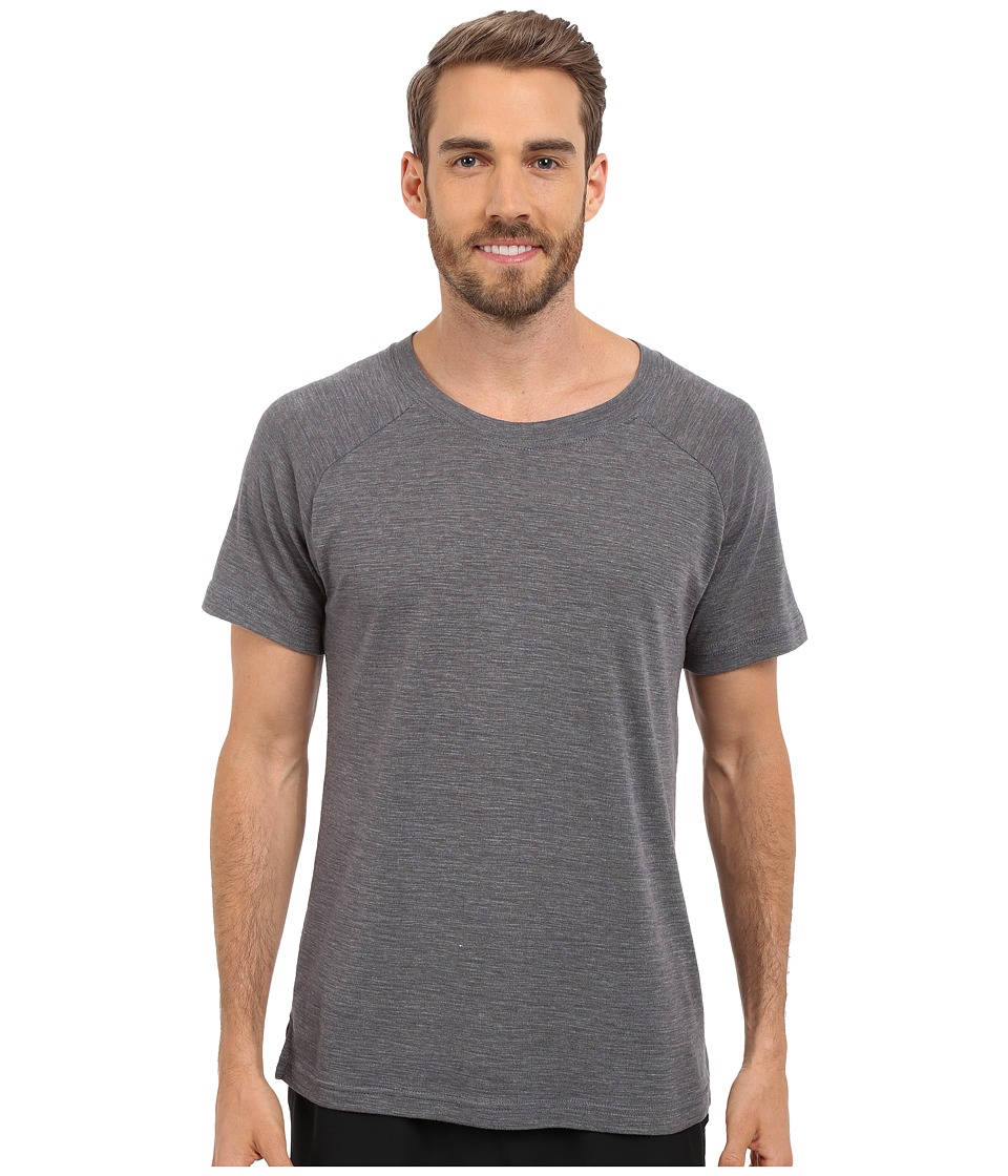 ALO Core Raglan Crew Neck Tee (Asphalt Performance Blend) Men