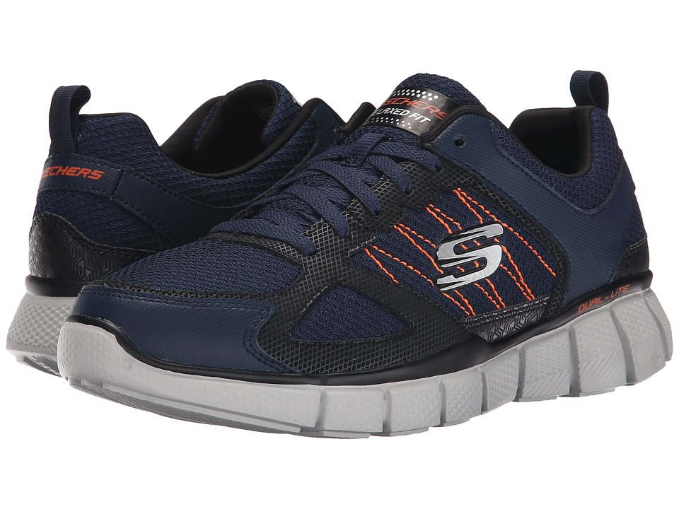 Skechers Equalizer 2.0 On Track (Navy/Orange) Men's  Shoes