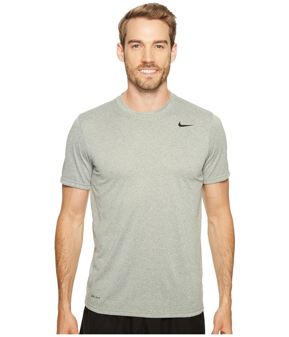 Nike Legend 2.0 Short Sleeve Tee (Dark Grey Heather/Black/Black) Men