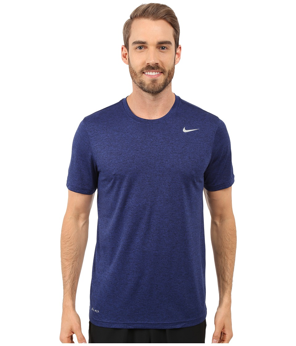 Nike - Legend 2.0 Short Sleeve Tee (Deep Royal Blue/Black/Black/Matte Silver) Men