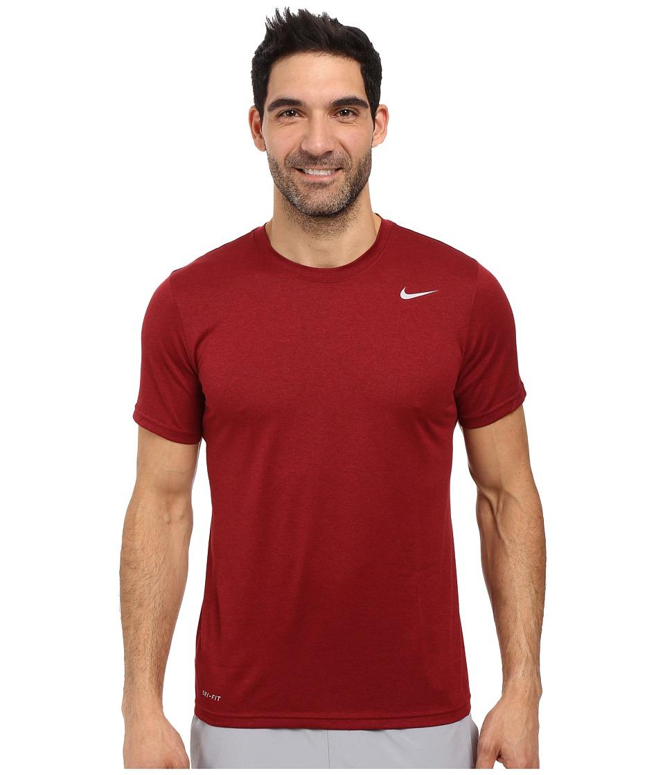 Nike - Legend 2.0 Short Sleeve Tee (Team Red/Black/Matte Silver) Men