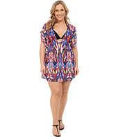 BECCA by Rebecca Virtue - Plus Size Becca ETC Aura Tunic Cover-Up