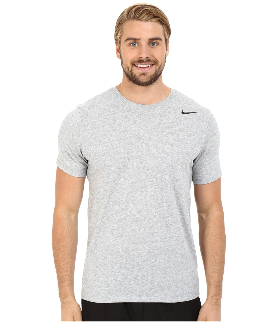 Nike Dri-FIT Version 2.0 T-Shirt (Dark Grey Heather/Dark Grey Heather/Black) Men
