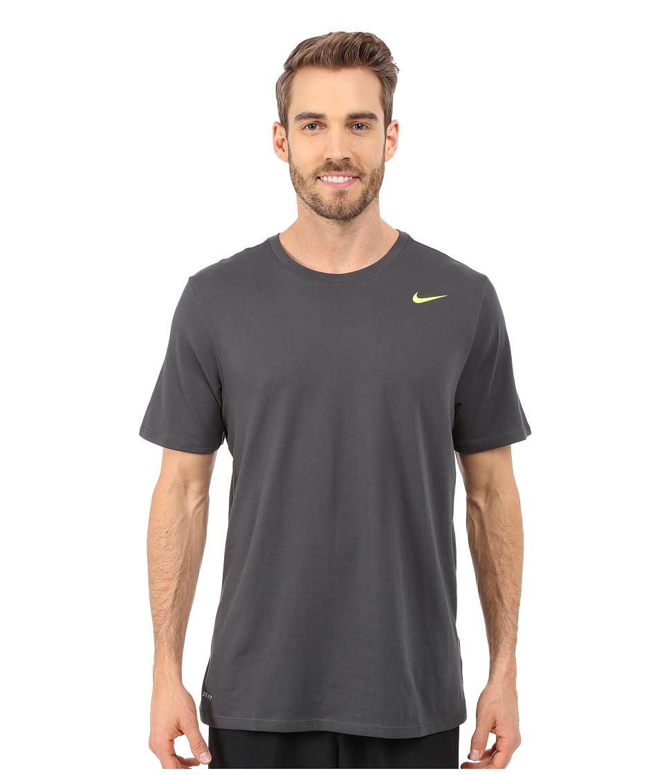 Nike Dri-FIT Version 2.0 T-Shirt (Anthracite/Anthracite/Volt) Men
