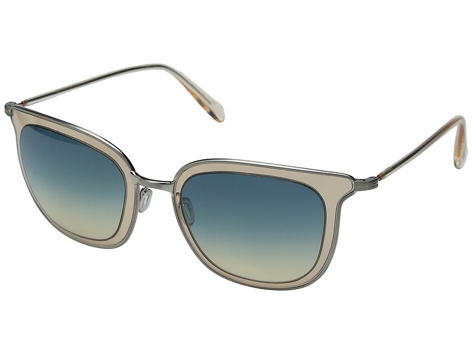 Oliver Peoples Annetta Brushed Silver/Opal Flash/Dusk Gradient Fashion Sunglasses