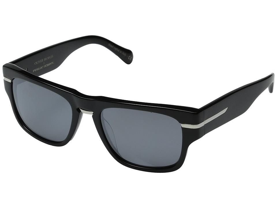 Oliver Peoples Public School Black/Obsidian Mirror Polarized Fashion Sunglasses