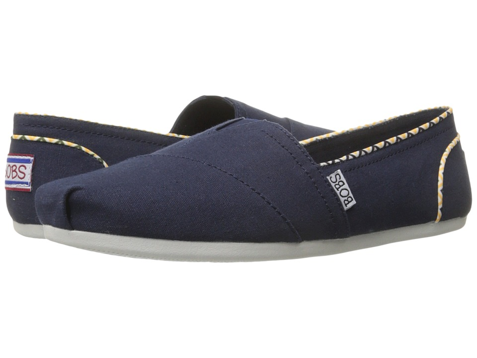 BOBS from SKECHERS Bobs Plush Navy Womens Slip on Shoes