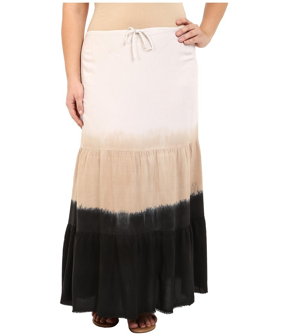 BECCA by Rebecca Virtue Plus Size Becca ETC Dusk to Dawn Skirt Cover Up Black Womens Swimwear