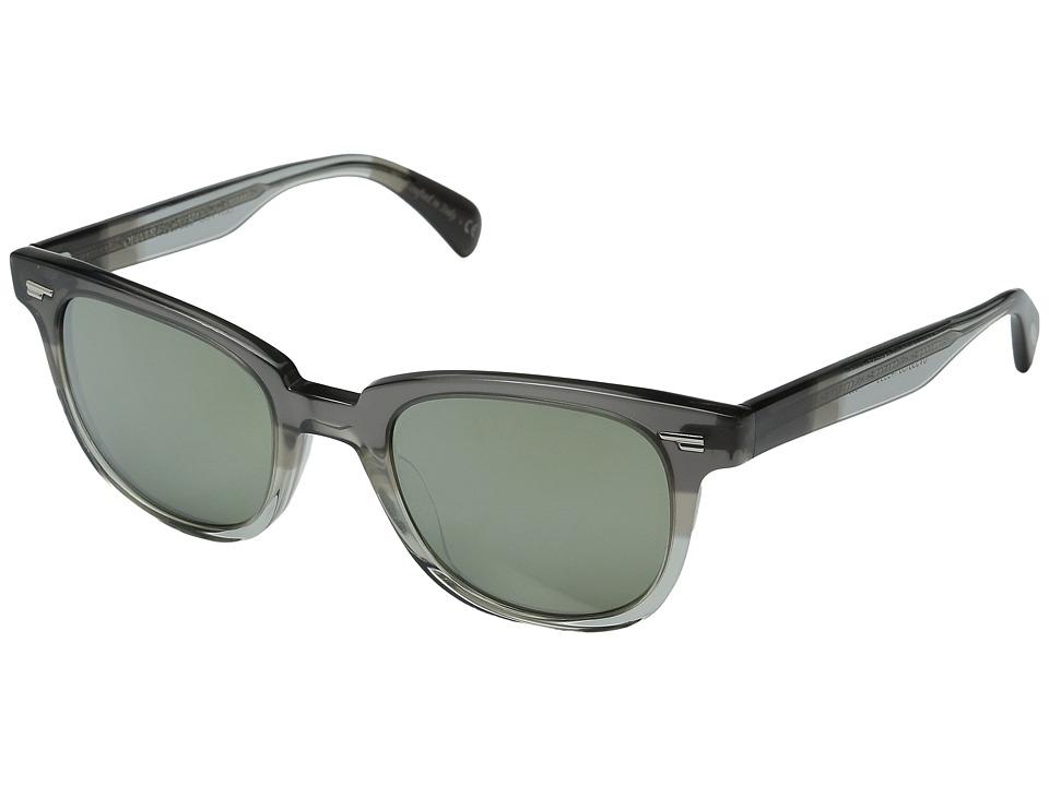 Oliver Peoples Masek Grey Fade/Silver Mirror Fashion Sunglasses