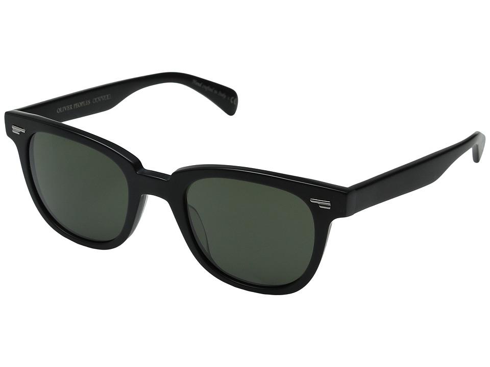 Oliver Peoples Masek Semi Matte Black/Grey Mineral Glass Fashion Sunglasses