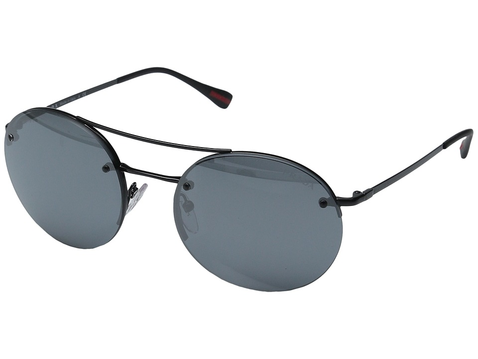 Prada Linea Rossa 0PS 54RS Black/Black/Light Grey Mirror Black Fashion Sunglasses