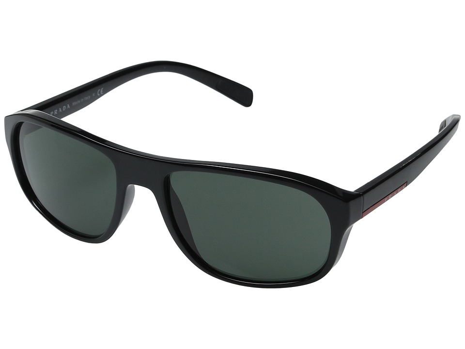 Prada Linea Rossa 0PS 01RS Black/Grey Green Fashion Sunglasses