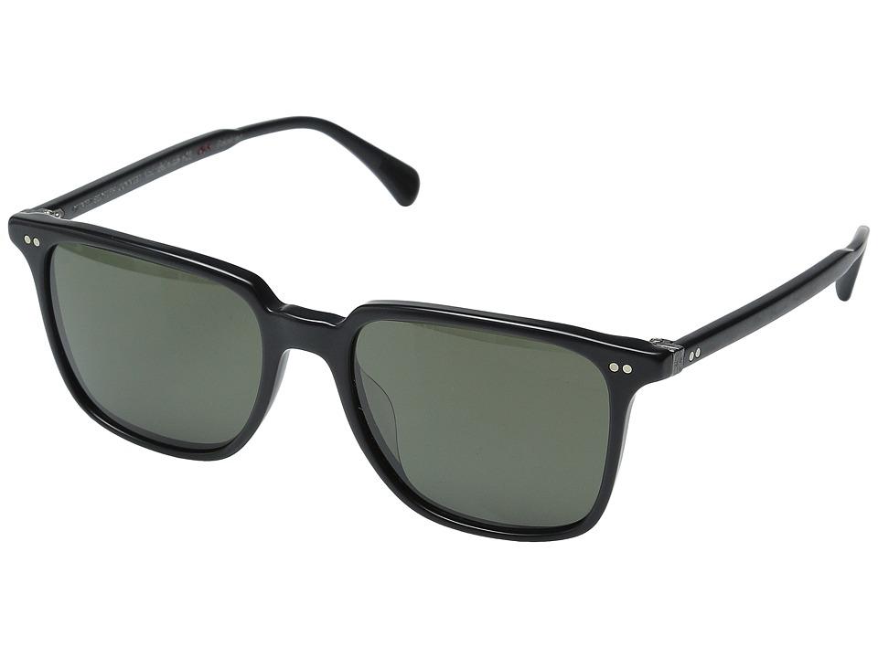 Oliver Peoples Opll Sun Semi Matte Black/G15 Polarized Vfx Fashion Sunglasses