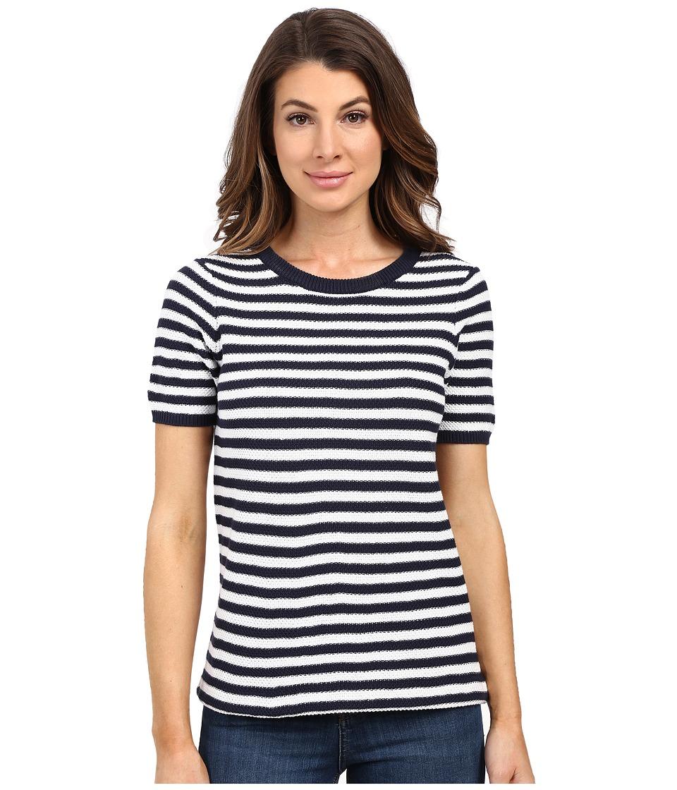 Tommy Bahama - Ardmore Stripe Pullover (Ocean Deep) Women