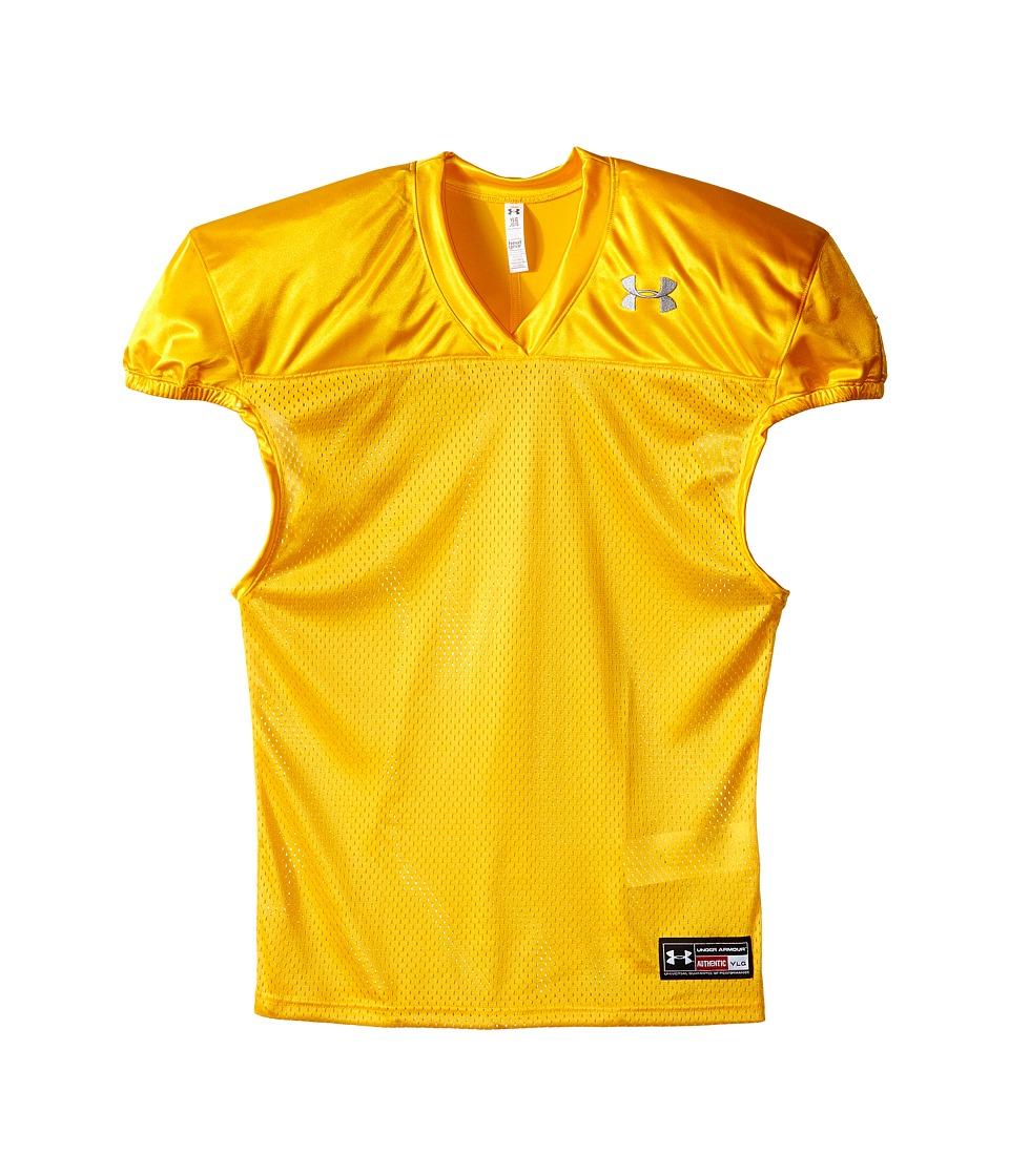 Under Armour Kids - Football Jersey (Big Kids) (Steeltown Gold) Boys Clothing