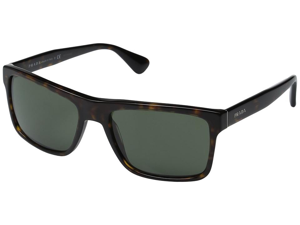 Prada 0PR 01SS (Havana/Green) Fashion Sunglasses