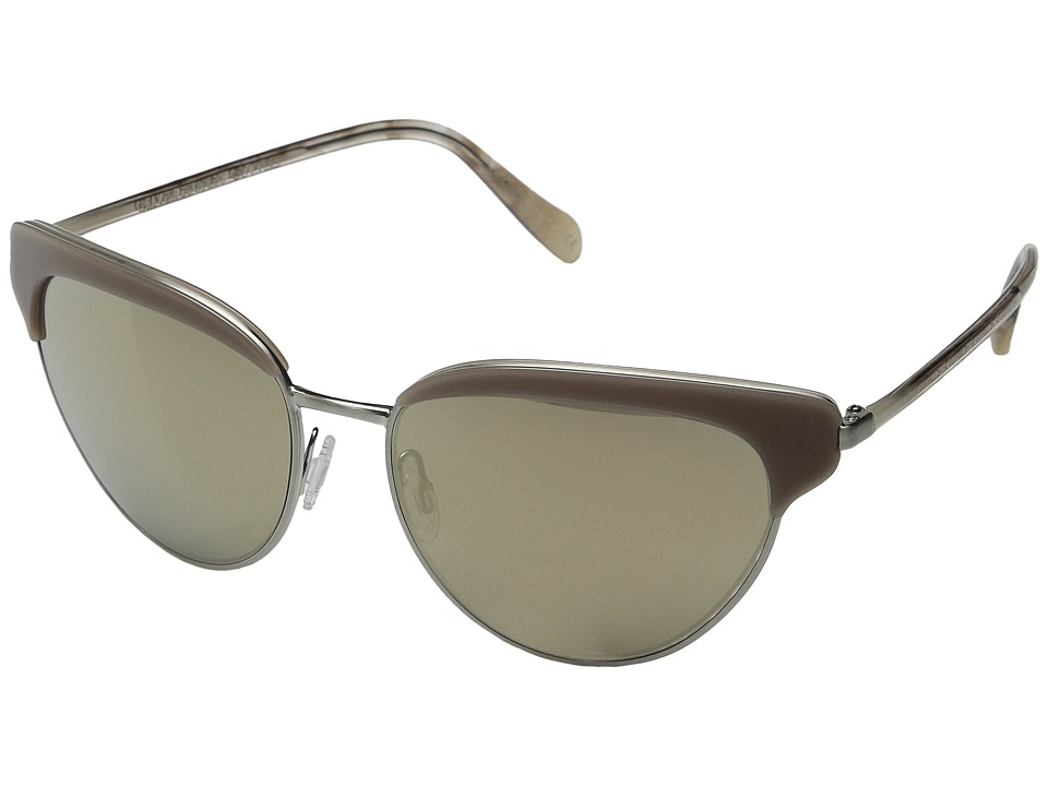Oliver Peoples Josa Linen/Brushed Silver/Spice Brown Gradient Fashion Sunglasses