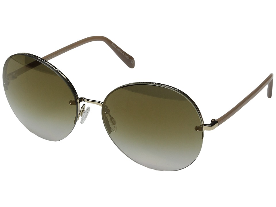 Oliver Peoples Jorie Gold/Linen/Bronze Flash Gradient Mirror Fashion Sunglasses