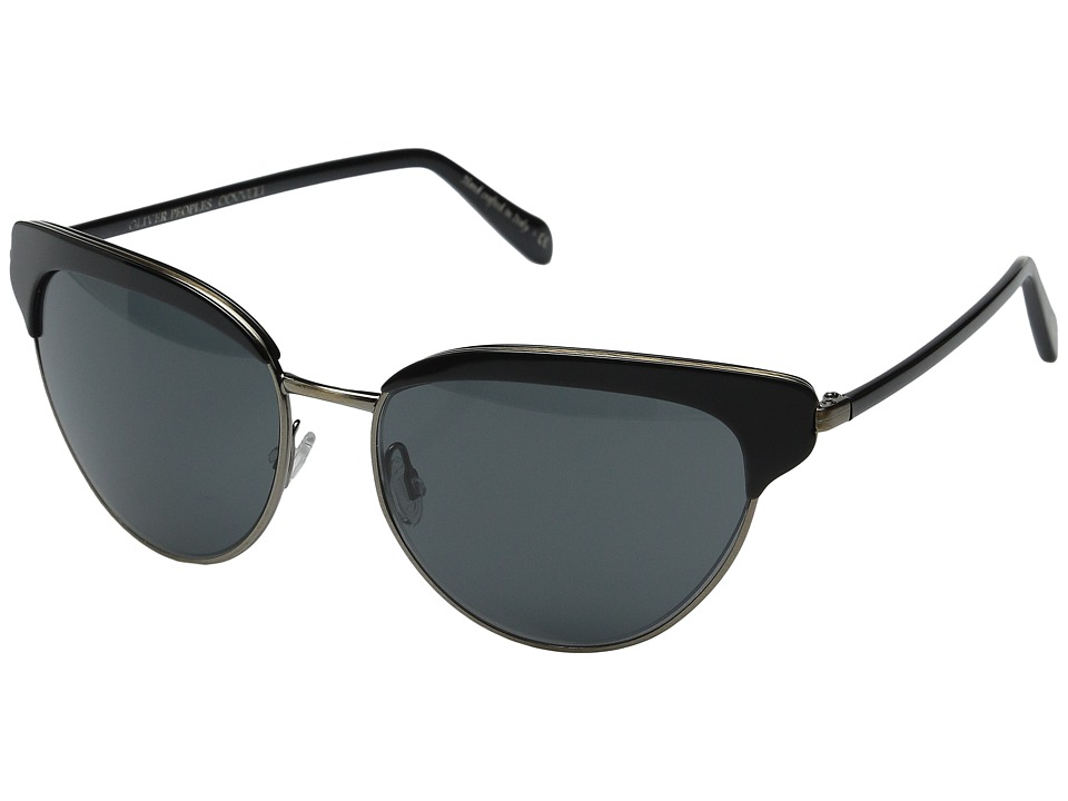 Oliver Peoples Josa Black/Antique Gold/Grey Fashion Sunglasses