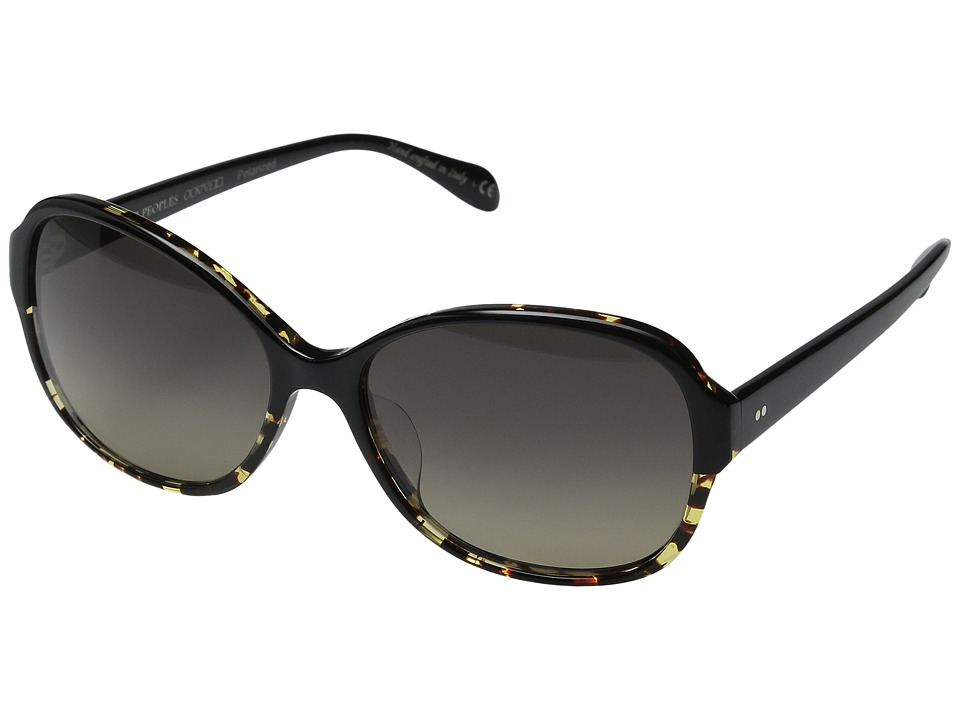 Oliver Peoples Brigid Black/DTBK Gradient/Lover Soul Gradient Polarized Fashion Sunglasses