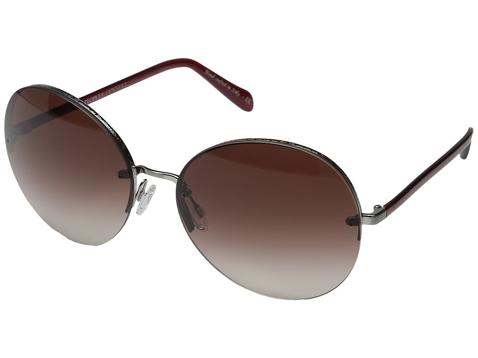 Oliver Peoples Jorie Brushed Silver/Ruby/Spice Brown Gradient Fashion Sunglasses