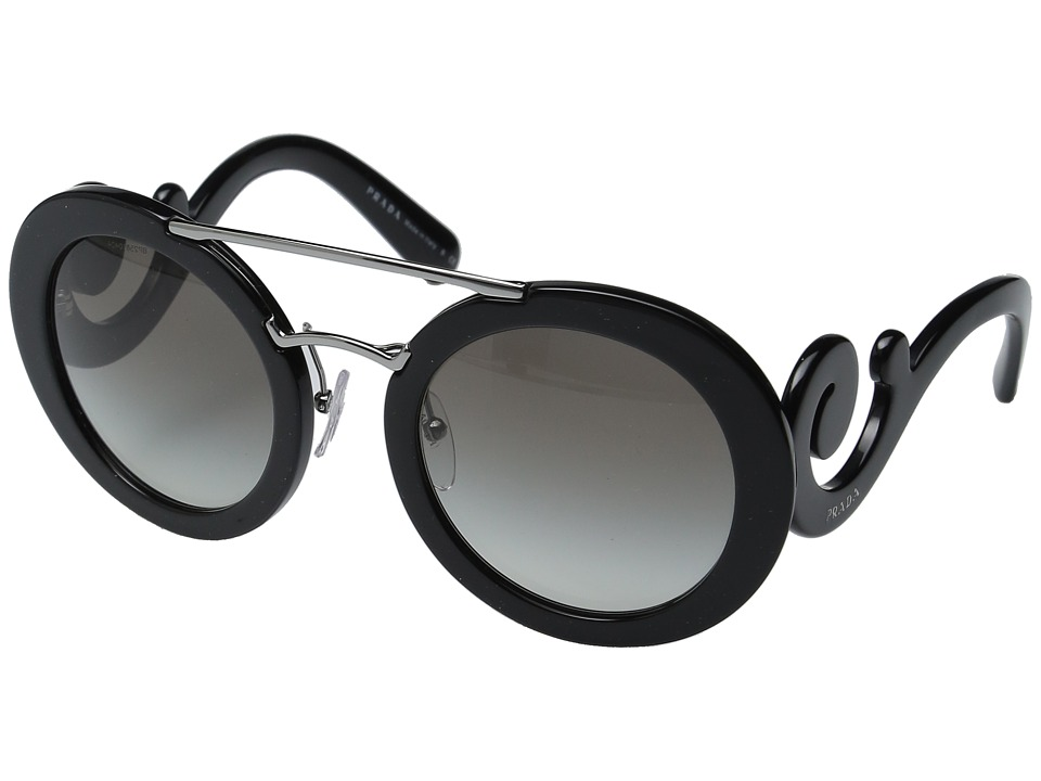 Prada - 0PR 13SS (Black/Grey Gradient) Fashion Sunglasses