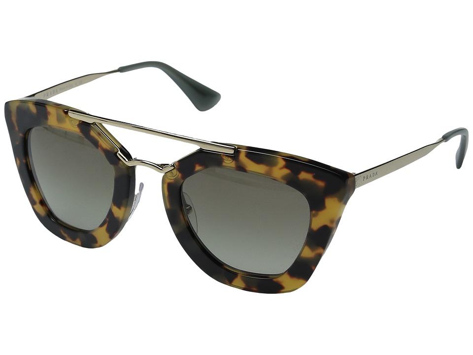 Prada 0PR 09QS Opal Green/Green Gradient Plastic Frame Fashion Sunglasses