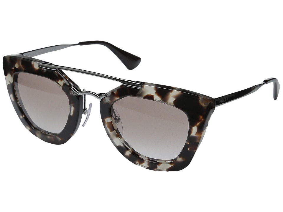 Prada 0PR 09QS Brown/Brown Gradient Plastic Frame Fashion Sunglasses
