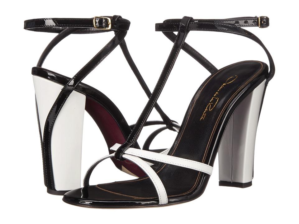 Oscar de la Renta - Lilia 100mm (White/Black Patent Leather) Women