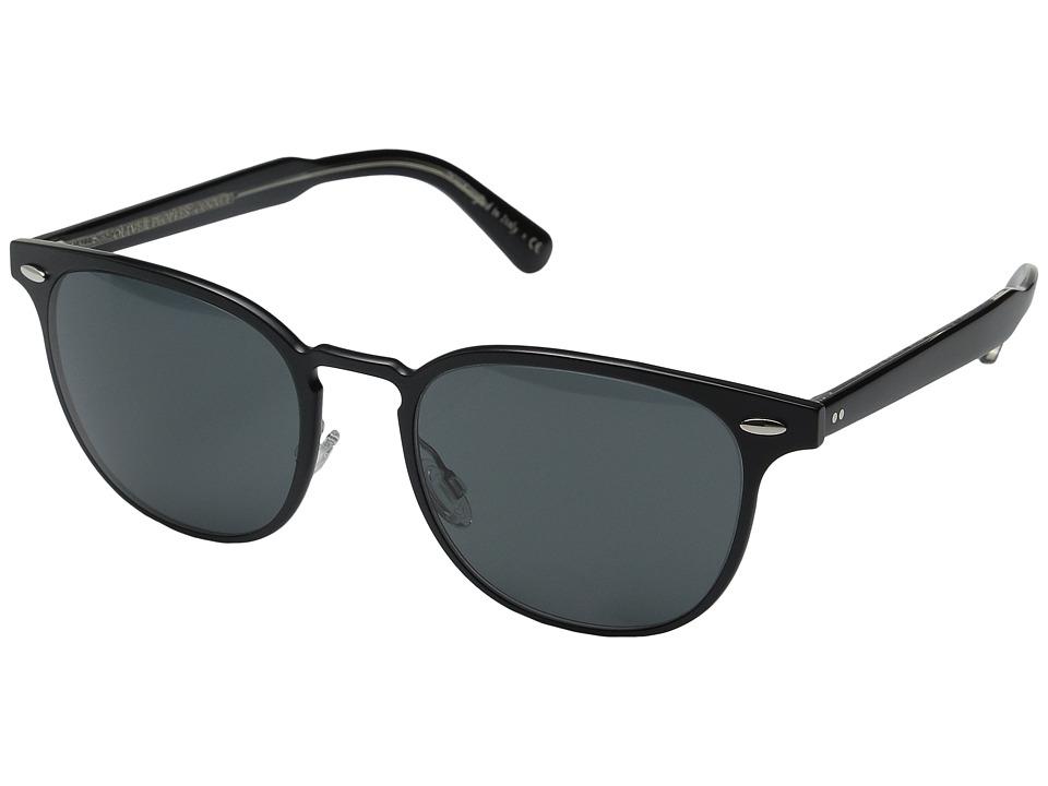 Oliver Peoples Sheldrake Metal Brushed Black/Black Crystal/Grey Fashion Sunglasses