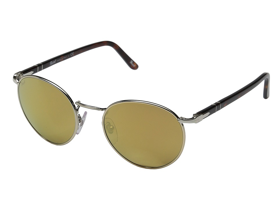 Persol - 0PO2388S (Light Gold/Havana/Light Brown Mirror Gold) Fashion Sunglasses