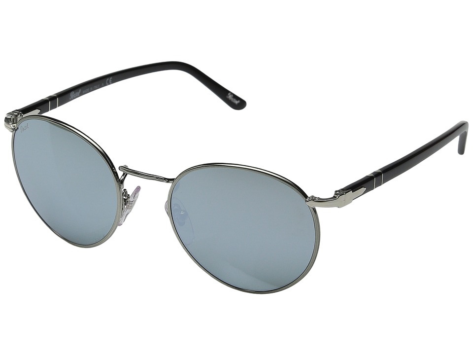 Persol 0PO2388S Gunmetal/Black/Light Green Mirror Silver Fashion Sunglasses