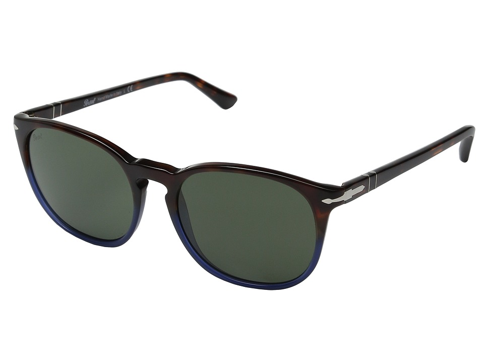 Persol 0PO3007S Terra E Oceano/Havana/Green Fashion Sunglasses