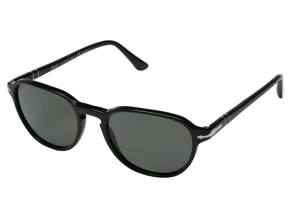 Persol 0PO3053S Black/Black/Green Polar Fashion Sunglasses