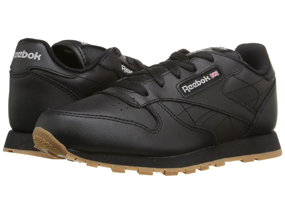 Reebok Kids - Classic Leather (Little Kid) (Black/Gum) Kids Shoes