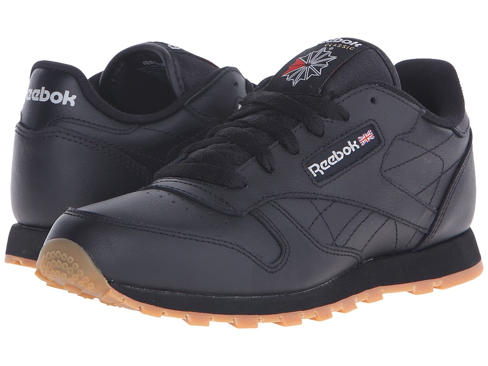 Reebok Kids - Classic Leather (Big Kid) (Black/Gum) Kids Shoes