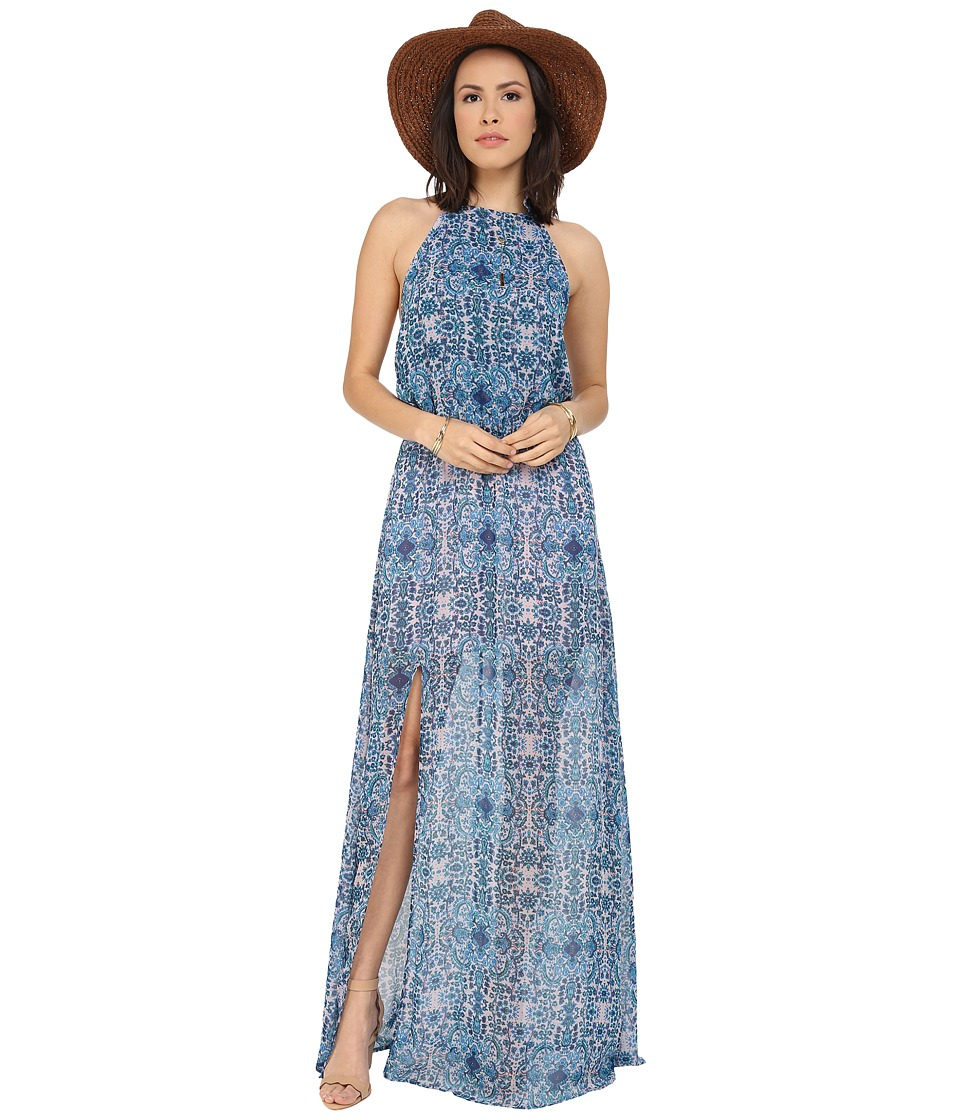 Show Me Your Mumu Heather Halter Dress Santorini Splash Womens Dress