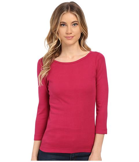 Three Dots 3/4 Sleeve British Tee (Lark) Women's Long Sleeve Pullover