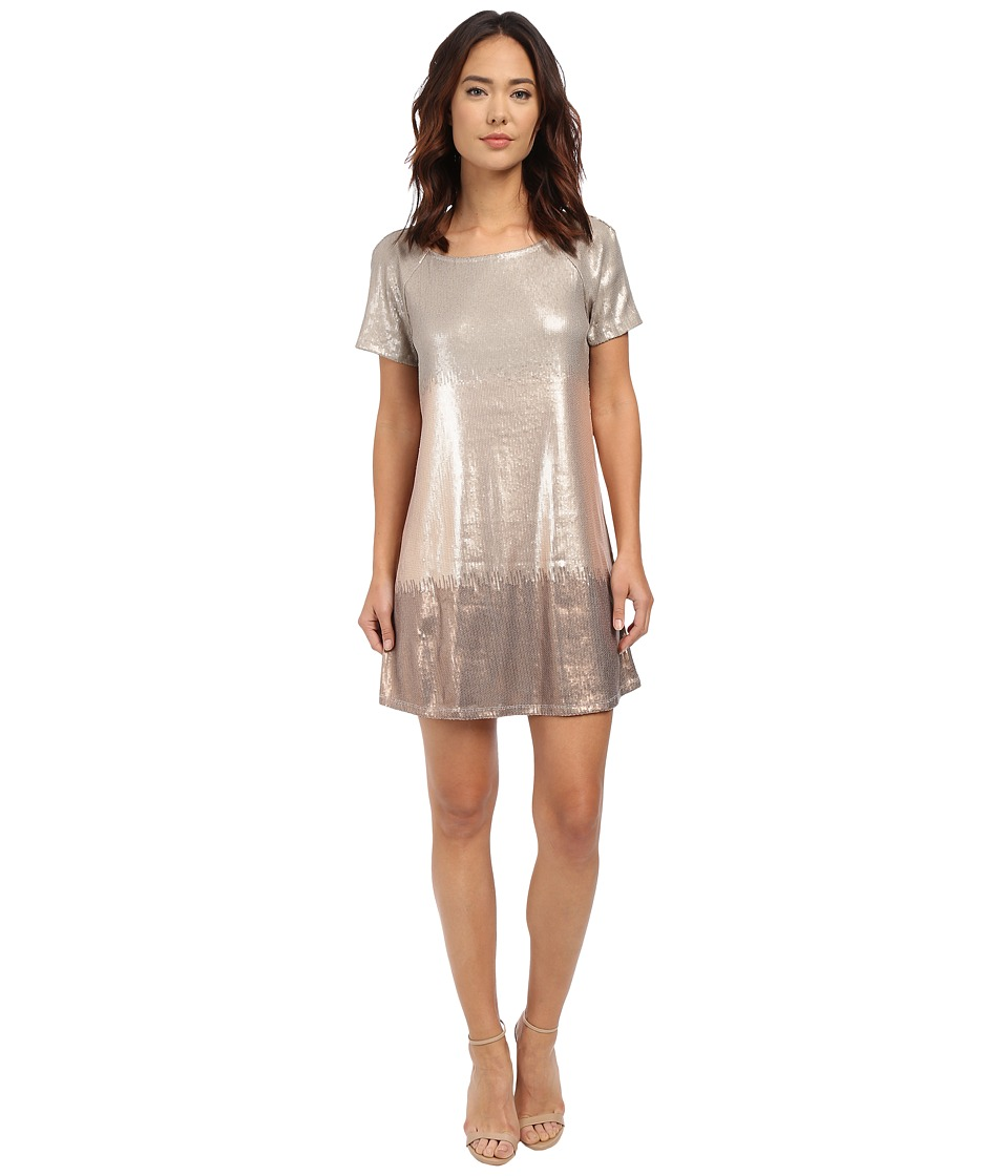 Free People Drenched in Sequins Dress Rose Gold Combo Womens Dress