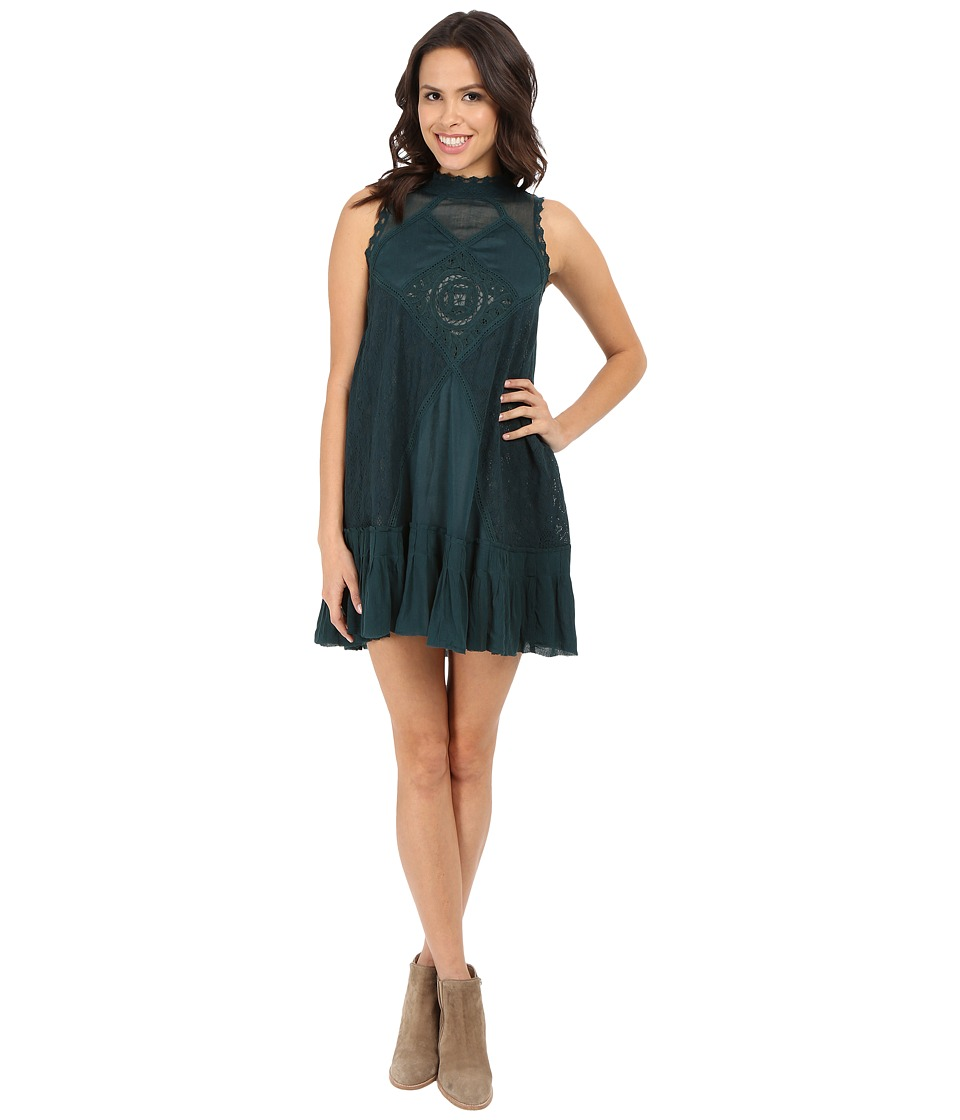Free People Angel Lace Dress Jade Womens Dress